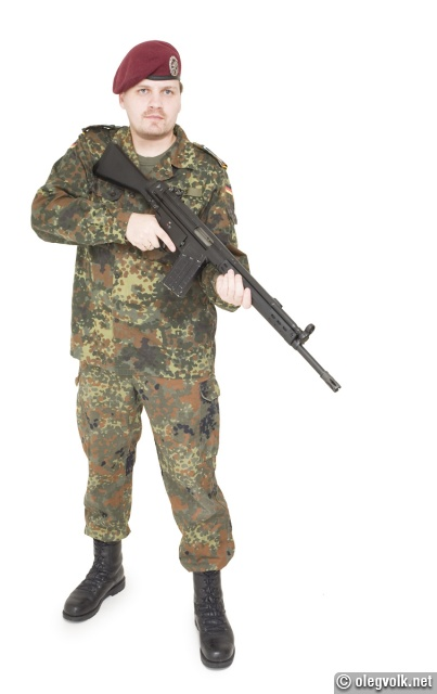Marko in his Bundeswehr uniform.