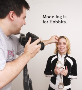Bill's Hobbit model Trish.