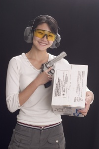 She shot accurately and handled her revolver safely from the start.