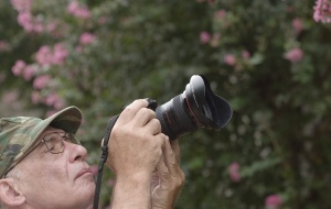 Photographer at the Garden of Eden.