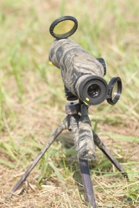 Even with a 40-power spotting scope, hits at 600 yards could be seen only by following projectile contrails.