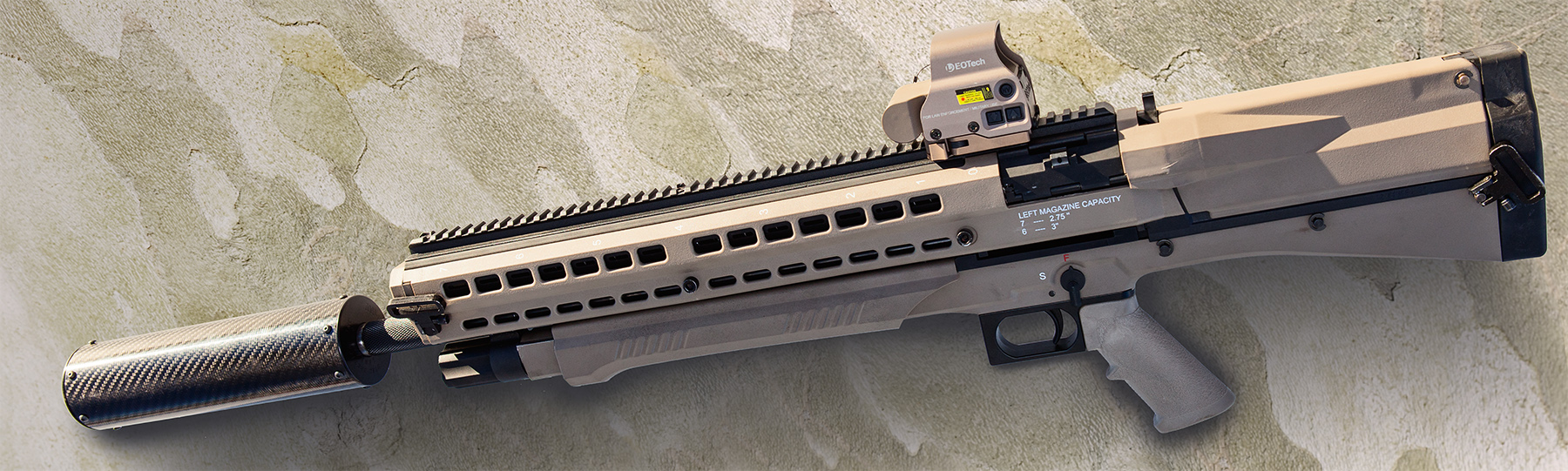 UTS 15 with carbon fiber suppressor and EOTech sight