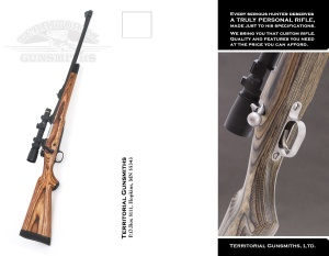 Territorial Gunsmithing brochure, front.