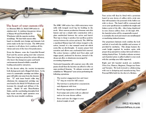 Territorial Gunsmithing brochure, inside.