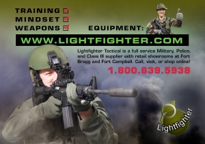 Half page ad for Lightfighter (SWAT Magazine)