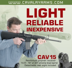 A variant of the ad for Cavalry Arms.