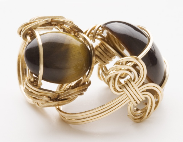Tiger eye ring by Sealy Arts