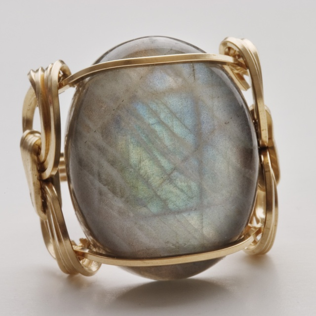 Lapidary ring by Sealy Arts